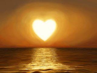 cuore tramonto